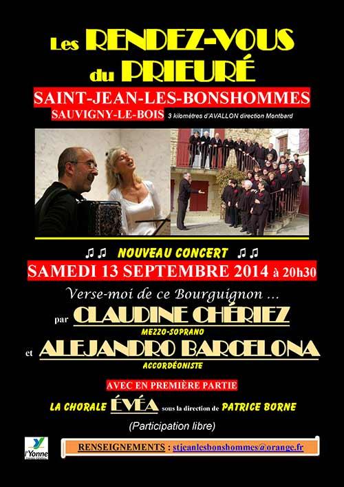 Concert au Prieuré Saint-Jean près d'Avallon