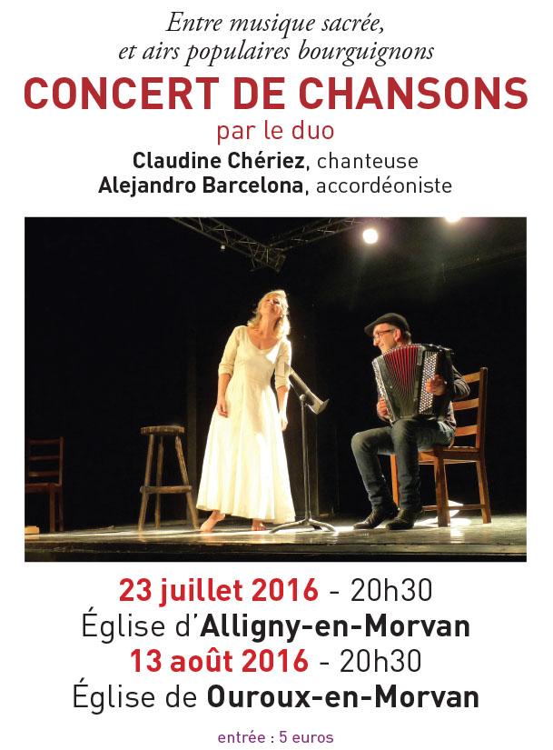 Concerts avec Claudine Cheriez et Alejandro Barcelona