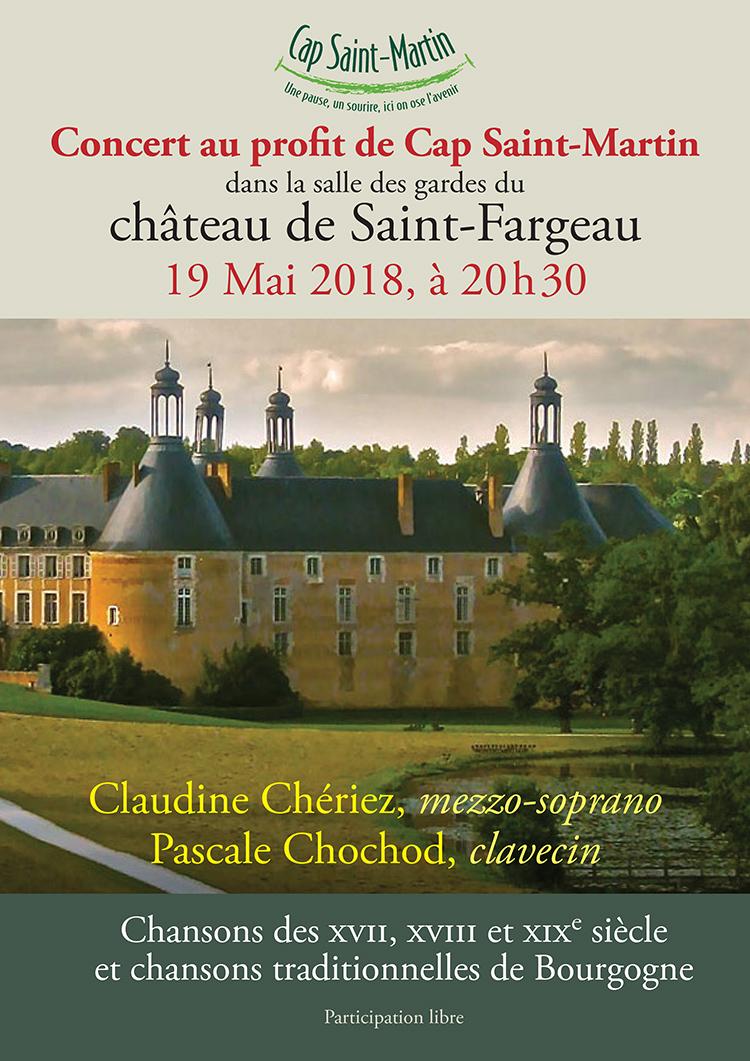 Chateau de Saint-Fargeau - Concert au profit de l'association Cap-Saint-Martin